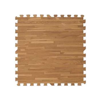 新生活家 耐磨拼花木紋地墊-深色62x62x1.4cm-12入