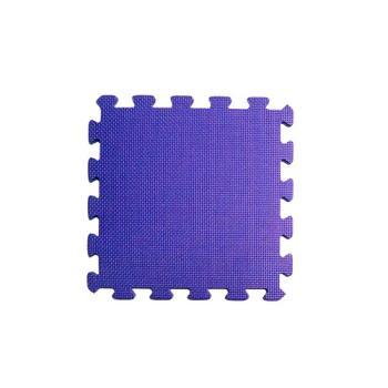 【新生活家】EVA抗菌地墊32x32x1cm-30入夢幻紫