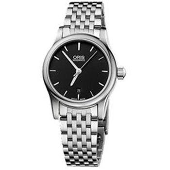 ORIS 經典三針機械鋼帶女錶-黑 (O561.7650.40.54MB)