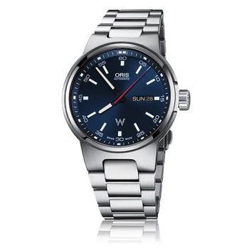 Oris Williams 賽車系列日曆星期機械錶-藍x銀/42mm  (0173577164155-0782450)