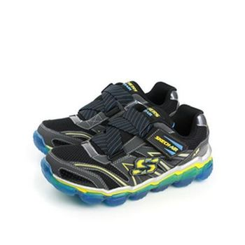 SKECHERS AIR 運動鞋 黑藍 童 no300