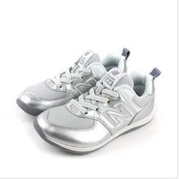 New Balance 574系列 休閒鞋 運動鞋 跑鞋 銀 中童 no891