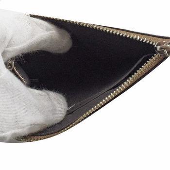 COACH 65174 馬車LOGO亮蔥皮革鑰匙零錢包.金