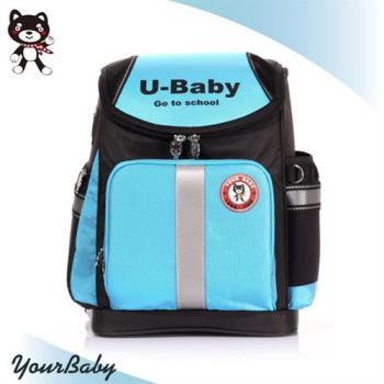 【YOUR BABY優寶貝】獨特輕量護脊波浪設計 透氣防潑水 台灣製多功能兒童書包-藍色