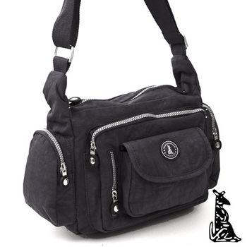 冰山袋鼠 - 樂活系休閒多口袋收納款側背包-共6色
