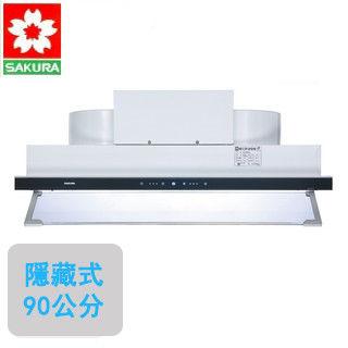 【櫻花SAKURA】DR-3592XL 觸控隱藏型除油煙機(渦輪變頻90公分)