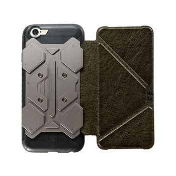 CORESUIT SHIELD iPhone6 /6s 掀蓋摺疊手機皮套-墨綠
