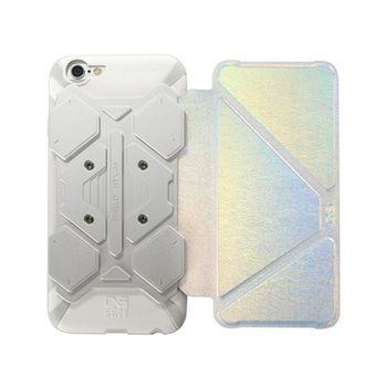 CORESUIT SHIELD iPhone6 /6s 掀蓋摺疊手機皮套-銀白