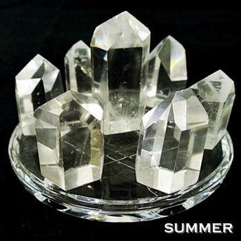 【SUMMER寶石】開運大陣-天然白水晶激光柱七星陣(開運能量超強)