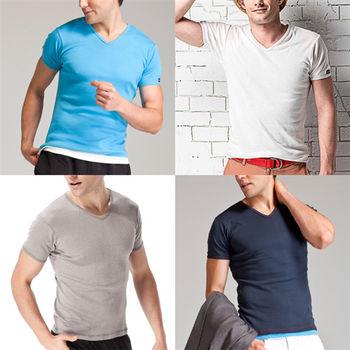 【MORINO】MIT型男抗菌防臭短袖衫4件組