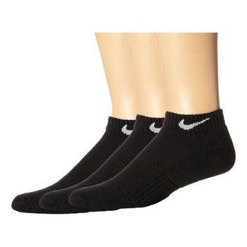 【Nike】2016男女時尚舒適DRI-FIT黑色低切短襪3入組(預購)