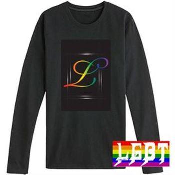 【L.G.B.T】彩虹浪漫音符純棉長袖圓領T恤 (L0009)