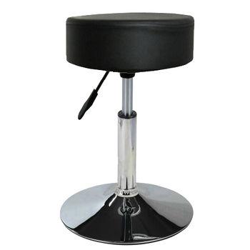 【E-Style】高級鍍鉻金屬圓盤腳座-吧台椅/工作椅/吧檯椅(三色可選)