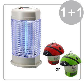 《1+1超值組》【元山】10W捕蚊燈 TL-1098+瓢蟲光觸媒滅蚊器 YS-309MK