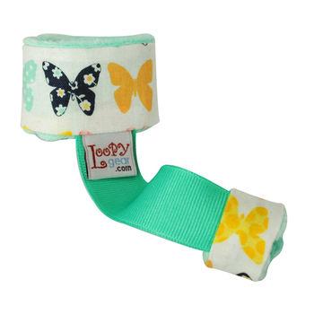 美國Loopy Gear寶寶抓緊緊 安撫玩具手腕帶-薄荷花蝶舞