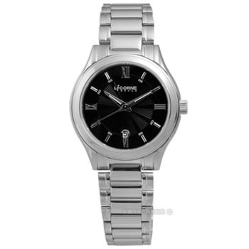 LICORNE 力抗 / LIT050LWBI / 高貴羅馬數字日期不鏽鋼腕錶 黑色 27mm