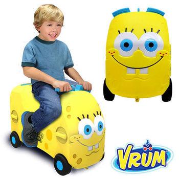美國 VRUM 卡通造型 兒童行李箱 海綿寶寶