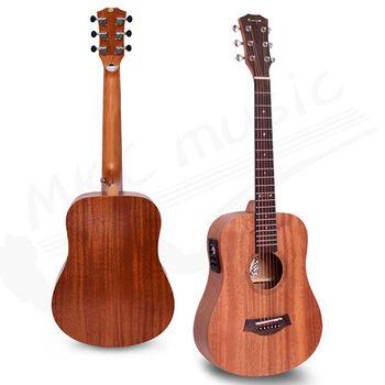 Enya 34吋 EQ+調音器 全桃花心木 旅行吉他(EB-01+EQ)+吉他5寶