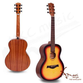 Amari 36吋 雲杉木面板 旅行吉他-漸層(mini-SB)加贈超值五寶
