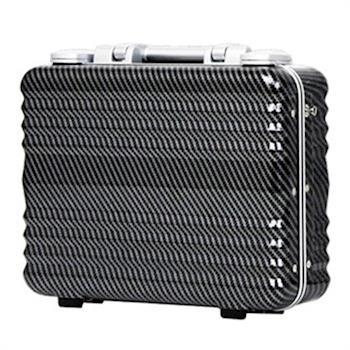 日本 LEGEND WALKER 6604-34-14吋 鋁框公事手提箱 碳纖黑
