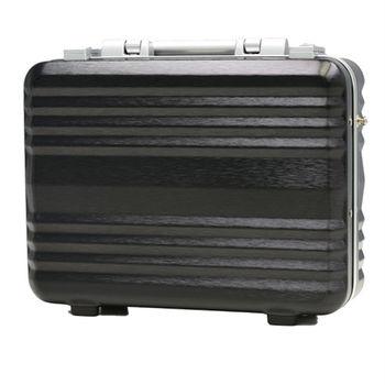 日本 LEGEND WALKER 6604-34-14吋 鋁框公事手提箱 拉絲黑