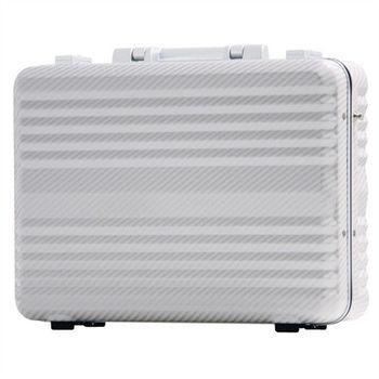 日本 LEGEND WALKER 6604-34-14吋 鋁框公事手提箱 碳纖白