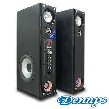 《Dennys》USB/SD藍芽多媒體落地型喇叭黑木色(CS-699)
