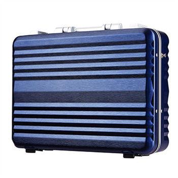 日本 LEGEND WALKER 6604-42-16吋 鋁框公事手提箱 深河藍
