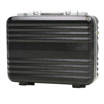 日本 LEGEND WALKER 6604-42-16吋 鋁框公事手提箱 拉絲黑