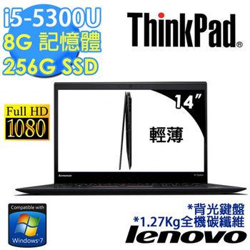 Lenovo 聯想 ThinkPad X1c 20BSA04HTW 14吋 FHD i5-5300U SSD效能 輕薄酷炫黑筆電 Win7專業版 三年保固
