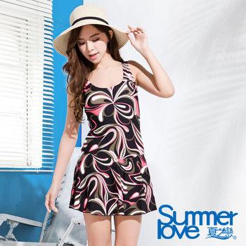 【SUMMERLOVE 夏之戀】大女連身帶裙泳衣(E15791)