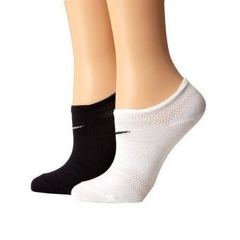 Nike 2016女乾爽輕質黑白混搭低切運動襪2入組(預購)