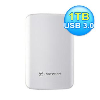 創見 SJ25D3W 1TB 外接硬碟 USB3.0 白