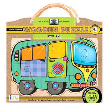 美國innovativeKids幼兒木拼圖-愛的巴士(14片組)