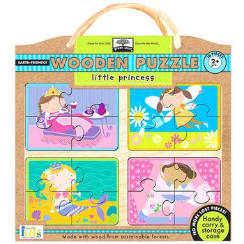 美國innovativeKids寶寶木拼圖-微笑公主(16片組)