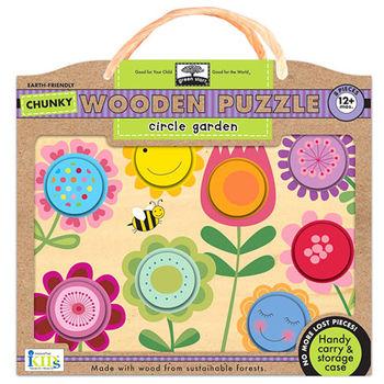 美國innovativeKids寶寶木拼圖-彩色花園(8片組)
