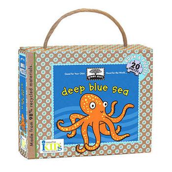 美國innovativeKids厚紙書+拼圖-藍色海洋