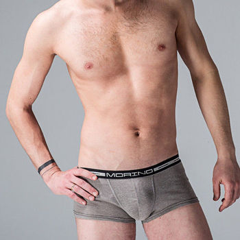 【MORINO】抗菌防臭運動平口褲 灰色