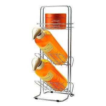 日本ASVEL纖細型不鏽鋼3層沐浴乳架