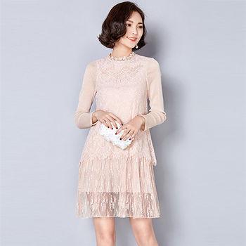 【Jisen】天使之戀蕾絲修身洋裝