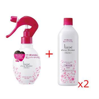 莉婕莓果髮妝水亮澤捲度200ml+補充瓶340ml(2入)