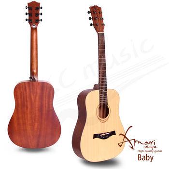 Amari 36吋 雲杉木面板 旅行吉他(Baby)送超值五寶