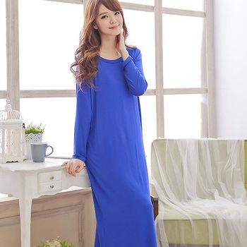 Wonderland 知性美人嫘縈洋裝(藍)