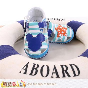 魔法Baby 寶寶鞋 專櫃款迪士尼米奇寶寶外出鞋~sh9639