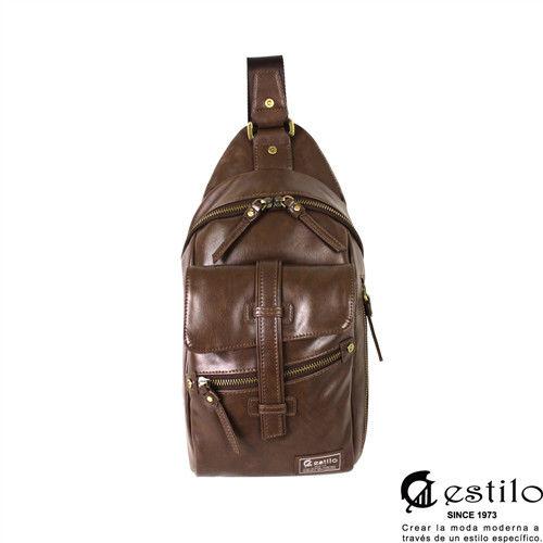 estilo - 西班牙品牌 印地安II系列 豪放氣勢 直式單肩包 - 咖啡色