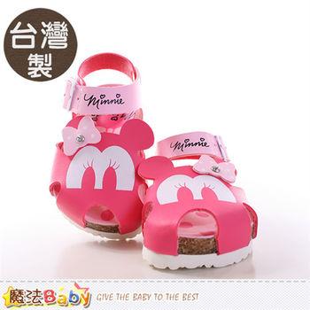 魔法Baby 寶寶涼鞋 台灣製迪士尼米妮正版童鞋~sh9651