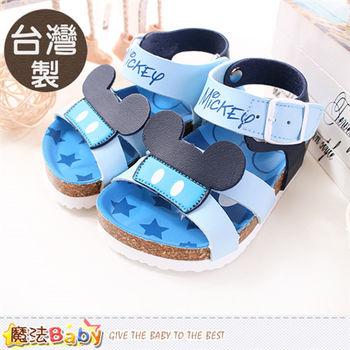 魔法Baby 兒童涼鞋 台灣製迪士尼米奇正版寶寶涼鞋~sh9650