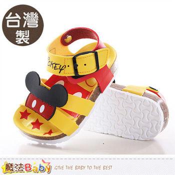 魔法Baby 兒童涼鞋 台灣製迪士尼米奇正版寶寶涼鞋~sh9649