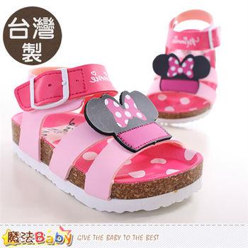 魔法Baby 寶寶涼鞋 台灣製迪士尼米妮正版童鞋~sh9648