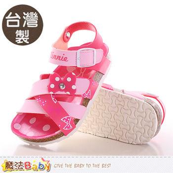 魔法Baby 童鞋 台灣製專櫃款迪士尼米妮正版童涼鞋~sh9646